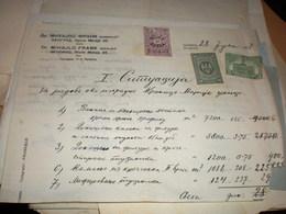 Beograd Dr Mihajlo Frank Inzinjer 1927 Taksena Marka 20 I 50 Dinara Gradska Marka Novi Sad 5 Dinara Tax Stamps - Other