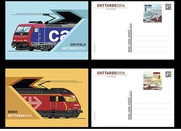 Switzerland 2016 - Gottardo 2016 Stationery Postcard Set Mnh - Ganzsachen