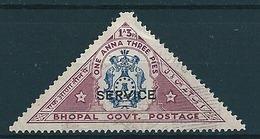 Indien-Bhopal 1935 Dienst 1A3P Lila/blau  Mi-Nr. 23 Gestempelt/used - Bhopal