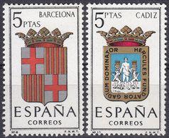 ESPAÑA - SPAGNA - SPAIN - ESPAGNE- 1962 - Lotto Di 2 Valori Nuovi MNH: Yvert 1114 E 1117. - 1931-Oggi: 2. Rep. - ... Juan Carlos I
