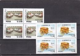 Peru Nº 1054 Al 1055 En Bloque De Cuatro - Peru