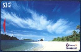 FIJI 3 DOLLARS GPT MAGNETIC PHONECARD TELECARTE WAYASEWA - YASAWA ISLANDS 1998 - Fiji