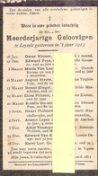 DP. MEERDERJARIGE GELOOVIGEN TE LEYSELE GESTORVEN IN 'T JAAR 1913 - Religion & Esotérisme