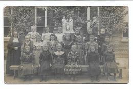 Erpe (Mere) School Der Zusters Van Maria Et Josef 1908 Photo Carte - Persone Anonimi