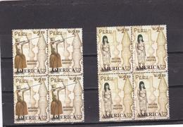 Peru Nº 1105 Al 1106 En Bloque De Cuatro - Peru