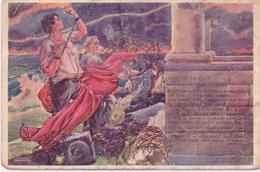 ALTE  AK  TSCHECHIEN - Nationalistisches Symbol / Gedicht - Gelaufen 1915 - Czech Republic