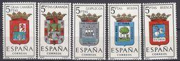 ESPAÑA - SPAGNA - SPAIN - ESPAGNE- 1963 - Lotto Di 5 Valori Nuovi MNH: Yvert 1179, 1180 E 1182/1184. - 1931-Oggi: 2. Rep. - ... Juan Carlos I