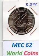 MEC 62 - / République Portugaise / Commémorative 100 Escudos 1987/ Nuno Tristao / - S.526 - Portugal