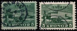 Sweden 1931 - Royal Palace - White + Colored Paper - Facit #233A+B - Mi #215A+B - Used - Suède