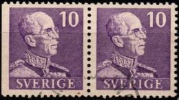 Sweden 1939/48 - Gustav V Pair Imperf Left - 10ore Small -  Facit #269BC - Mi #250 - Used - Suède