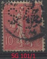 N° 129 Perforé SG 101 Ind 1 - Francia