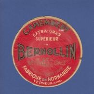 Etiquette BERNOLLIN - Camembert Vallée D'Avre - Normandie Verneuil Cf Scan - Fromage