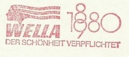 EMA METER STAMP FREISTEMPEL 100 YEARS ANNIVERSARY WELLA 1880 1980 DARMSTADT - Stamps