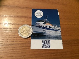 Ticket De Transport (bateau) «A/R FRIOUL - Chevalier Paul» (Marseille 13) - Boat