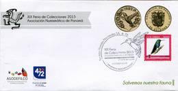 Lote 2015-MP3, Colombia, 2015, SPD-FDC, Marca Postal, XIX Feria De Colecciones, Panama, Collections Fair, Bird - Colombia