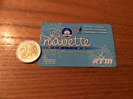 """Ticket De Transport (bus, Métro, Bateau) RTM """"la Navette MARITIME"""" Marseille (13) - Subway"""
