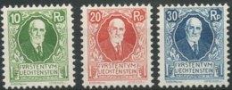 [56717]TB//*/Mh-c:78e-N° 72/74, 85 Ans Du Prince - Liechtenstein