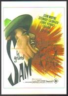 Carte Postale Illustration : Grinsson (cinéma Affiche Film Western) Le Grand Sam (John Wayne) - Affiches Sur Carte
