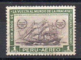 PEROU - PERU - 1961 - VOILIER - SAILSHIP - AMAZONAS - 1 SOL - POSTE AERIENNE - AIRMAIL - Oblitéré - Used - - Peru