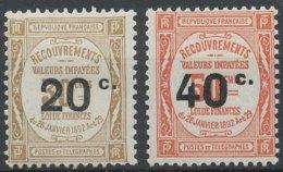 [57981]TB//*/Mh-c:52e-TX49/50, Timbres De 1908 Surchargés - Taxes