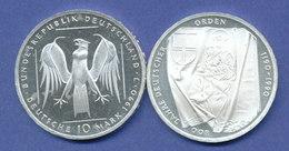 Bundesrepublik 10DM Silber-Gedenkmünze 1991, 800 Jahre Deutscher Orden - [ 7] 1949-… : RFA - Rep. Fed. Tedesca
