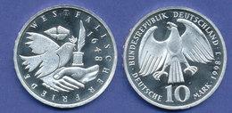 Bundesrepublik 10DM Silber-Gedenkmünze 1998, Westfälischer Friede - [ 7] 1949-… : RFA - Rep. Fed. Tedesca