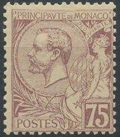 [58162]TB//*/Mh-c:38e-N° 19, 75c Violet-brun S. Paille - Monaco