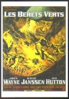 Carte Postale (cinéma Affiche Film) Les Bérets Verts (John Wayne) - Affiches Sur Carte