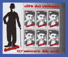 Vatikan Kleinbogen 2014 Mi.-Nr. 1813 ** 125. Geburtstag Von Charlie Chaplin - Vatikan