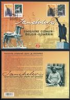 2007 Joint Issue Sheet / Gemeischaftsausgabe - Belgique Mi 3357 /8 + Romania Mi 5863 /4 - Sculptures Idel Ianchelevici - Gezamelijke Uitgaven