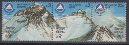 Nepal 1982 Himalaya Berge Everest, Lhotse, Nuptse Mi.-Nr. 420-22 Streifen **  - Nepal