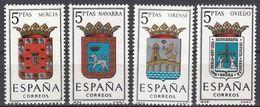 ESPAÑA - SPAGNA - SPAIN - ESPAGNE- 1964 - Lotto Di 4 Valori Nuovi MNH: Yvert 1253/1256. - 1931-Oggi: 2. Rep. - ... Juan Carlos I
