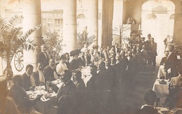 CPA -  06,  MENTON - Hotel Des Négociants Restaurant Gay Et Du Cercle - Carte Photo 1908 - Menton