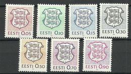 Estland Estonia Estonie 1991 Michel 165 - 171 MNH - Estonia
