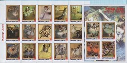 Birobidzhan / Stamps / Private Issue / Edgar Degas. Impressionism. Painting 2014. - Fantasy Labels