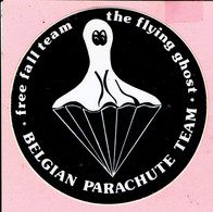 Sticker - BELGIAN PARACHUTE TEAM - Free Fall Team - The Flying Ghost - Autocollants