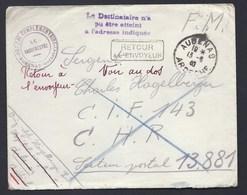 FM 1940 AUBENAS KRANKENHAUS HOPITAL COMPLEMENTAIRE REDESSAN GARD RETOUR SECTEUR POSTAL 13881 - Militaria