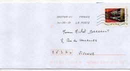 """2019--  Tp Adhésif """" GUINES--Camp Du Drap D'or """" Seul  Sur Lettre ... - Marcophilie (Lettres)"""