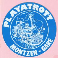 Sticker - PLAYATROTT - MONTZEN - GARE - Autocollants