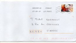 """2019--  Tp Adhésif """" Eclosion """" --    Seul  Sur Lettre ... - Poststempel (Briefe)"""