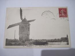 CPA   Mesquer Moulin à Vent En Action 1936 TBE - Mesquer Quimiac