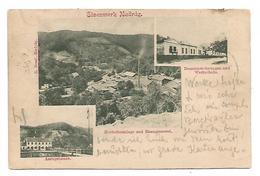 OLD POSTCARD GRUSS TYPE WITH WIEWS OF EISENWERK NADRAG , 1900 . - Ungheria