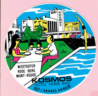 Sticker - KOSMOS Hotel Home Bad - Westouter Rode Berg - Autocollants
