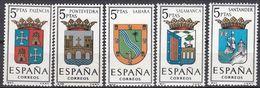 ESPAÑA - SPAGNA - SPAIN - ESPAGNE- 1965 - Lotto Di 5 Valori Nuovi MNH: Yvert 1296, 1297 E 1299/1301. - 1931-Oggi: 2. Rep. - ... Juan Carlos I