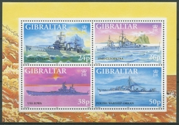 Gibraltar 1997 Kriegsschiffe Im 2. Weltkrieg Block 29 Postfrisch (C30902) - Gibilterra