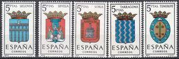 ESPAÑA - SPAGNA - SPAIN - ESPAGNE- 1965 - Lotto Di 5 Valori Nuovi MNH: Yvert 1326/1330. - 1931-Oggi: 2. Rep. - ... Juan Carlos I