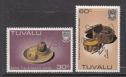 1983 1984 Tuvalu Handicrafts NEW Denominations 30c And 60c MNH - Tuvalu