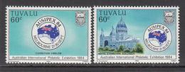 1984 Tuvalu Ausipex Australia Complete Set Of 2 MNH - Tuvalu (fr. Elliceinseln)