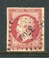 Superbe N° 17A Cachet PC 3709 ( Bureau Français De Smyrne ) - 1853-1860 Napoléon III