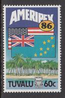 1986 Tuvalu Ameripex Flags Complete Set Of 1 MNH - Tuvalu (fr. Elliceinseln)